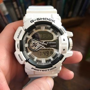 G Shock Men's White Watch